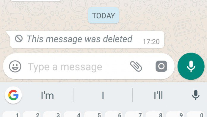 Image WhatsApp This message was deleted.