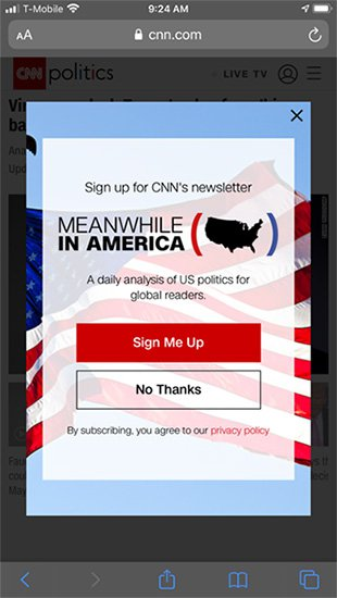 CNN pop-up image