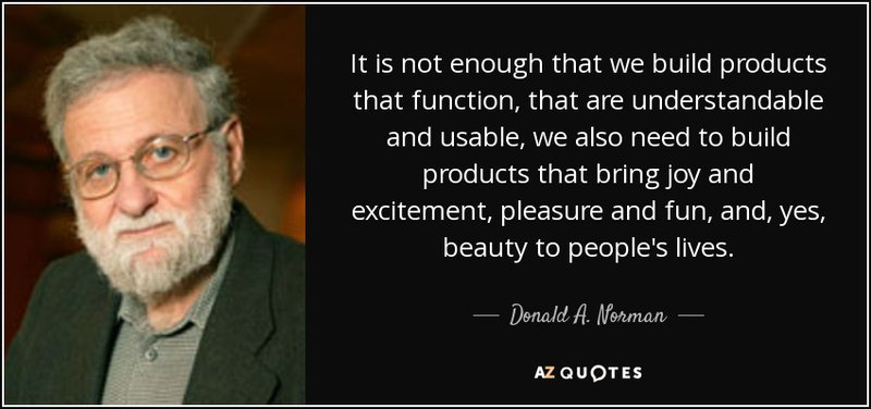 Image of Don Norman with design quote.
