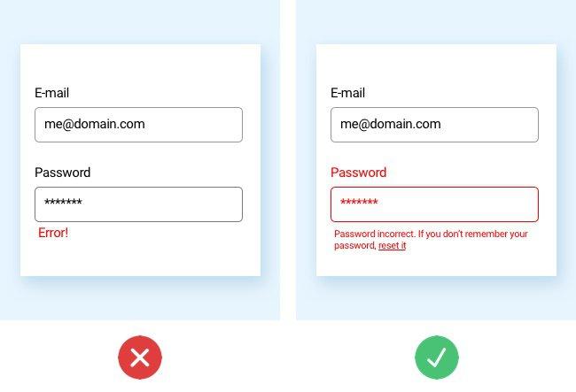 Unclear UI design vs Clear UI design