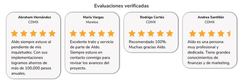 Sección evaluación verificada perfil Premium - Klasi