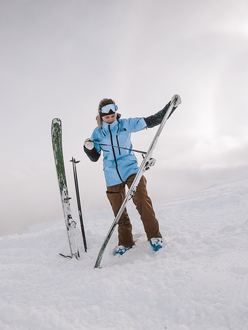 ski touring at the Arlberg region