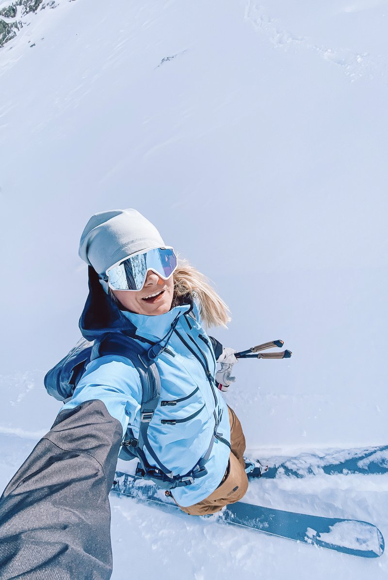ski touring as stress relief