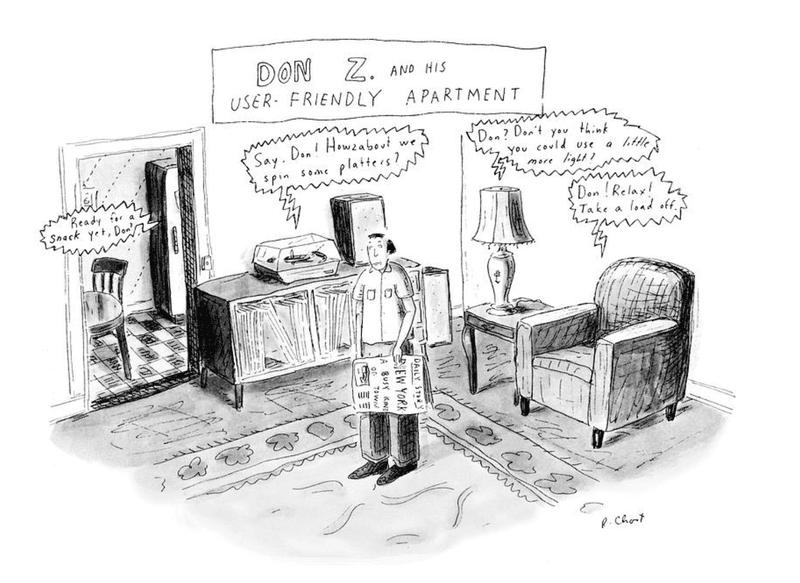User-Friendly Apartment cartoon