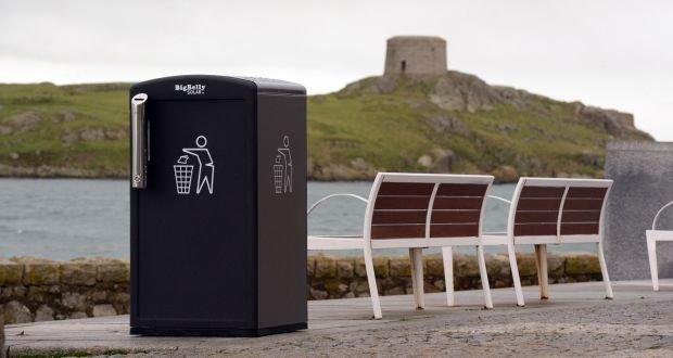 Solar-powered smart bin, Dublin