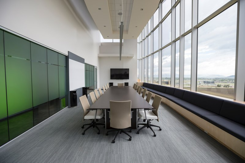 Elegant boardroom with view