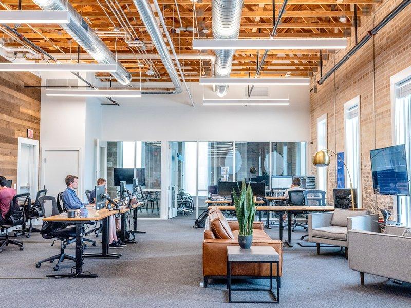 open plan styled office