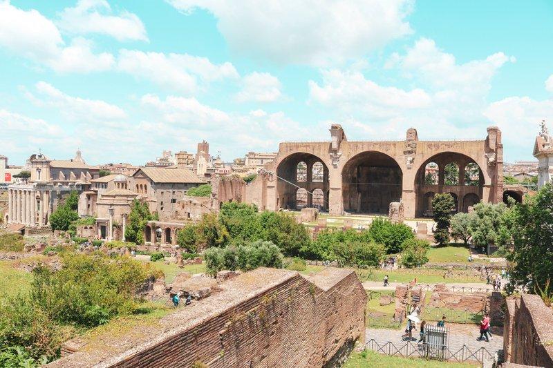 Roman forum summer day