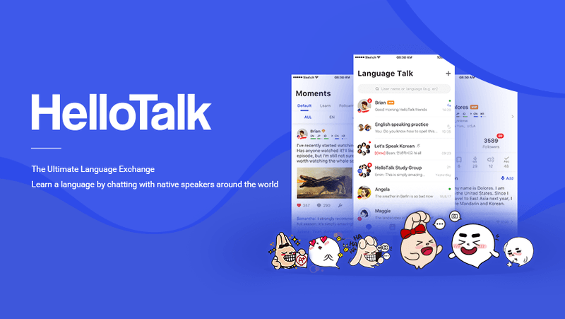 Apps to learn languages - HelloTalk