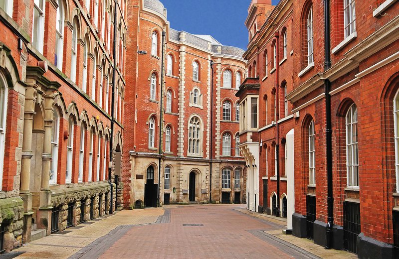 The Lace Market in the best student city in Nottingham
