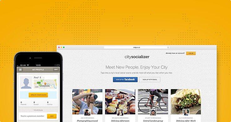 Similar apps to Meetup - CitySocializer