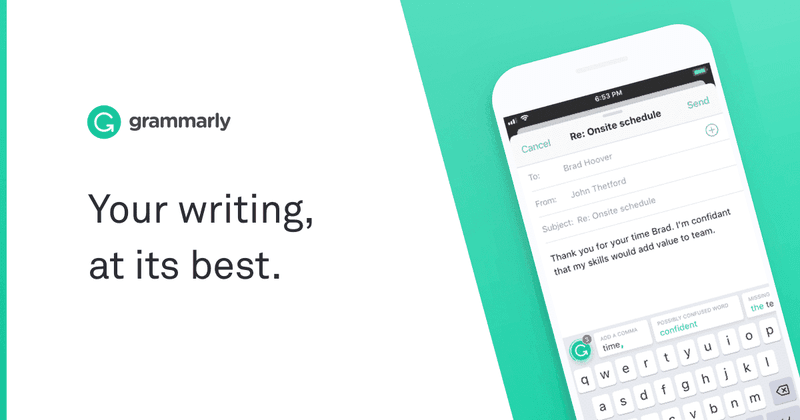 Cool apps to get - Grammarly