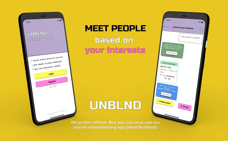 Meet like-minded people with Unblnd