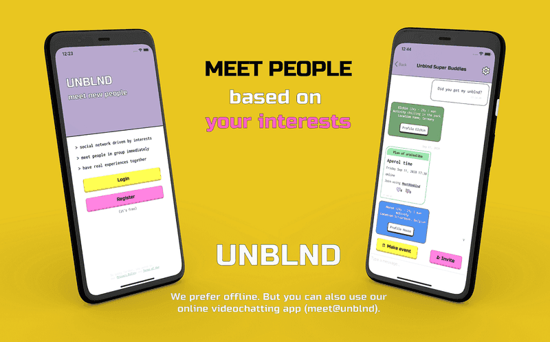 Social Network to find travel friends - UNBLND