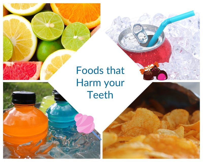 Foods that harm your teeth