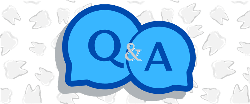 Q&A with tooth background for teeth grinding