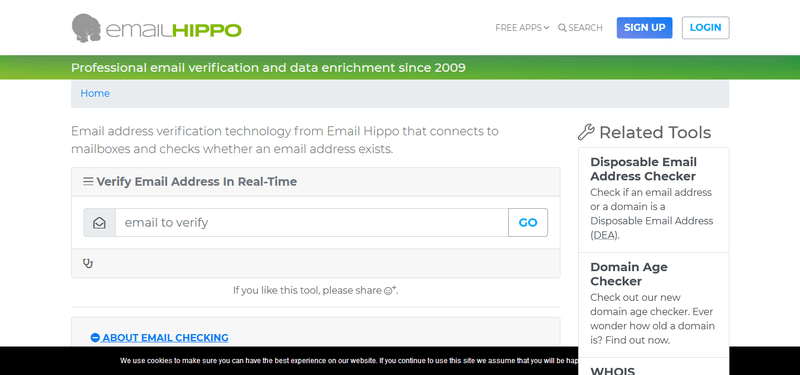 email hippo email verification