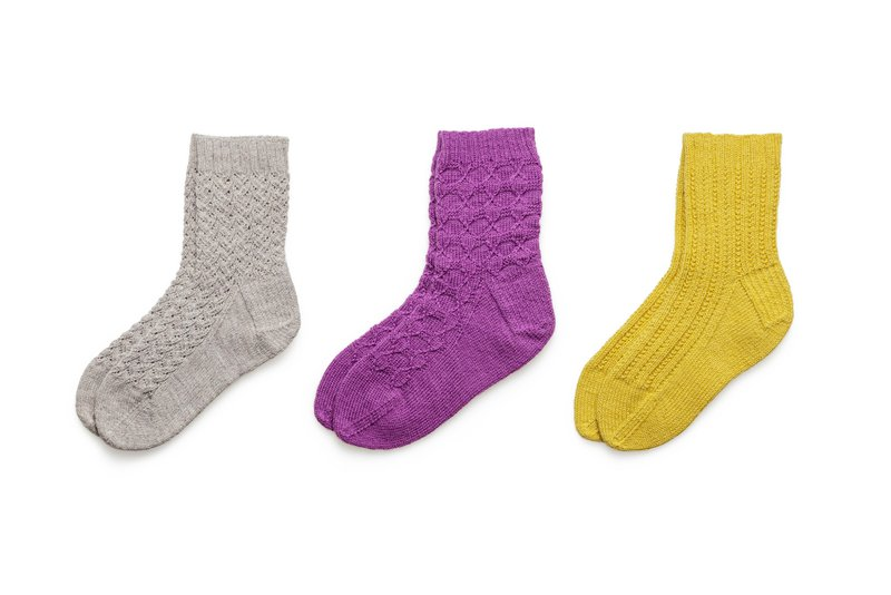 Clean isolated wool socks on white background