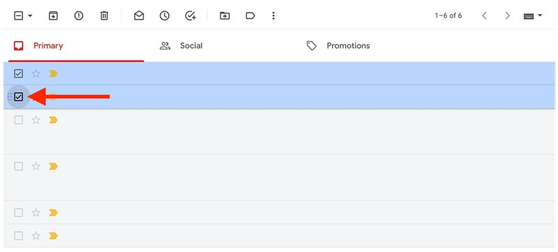 Mark emails as read in Gmail  - select the ones you need