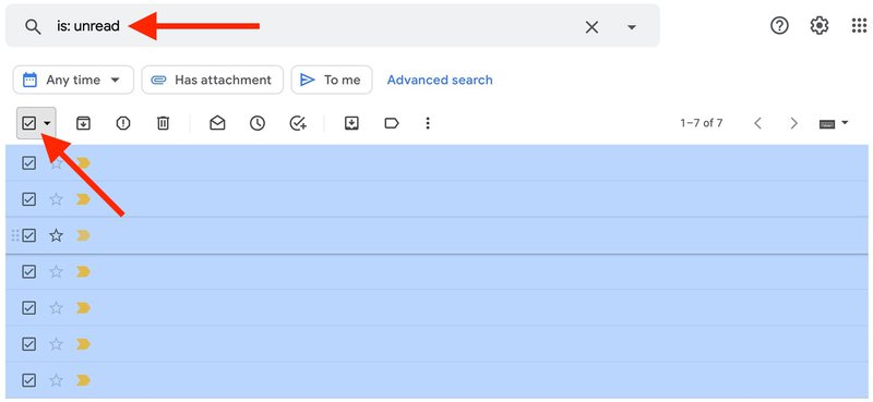 Type Unread in Gmail