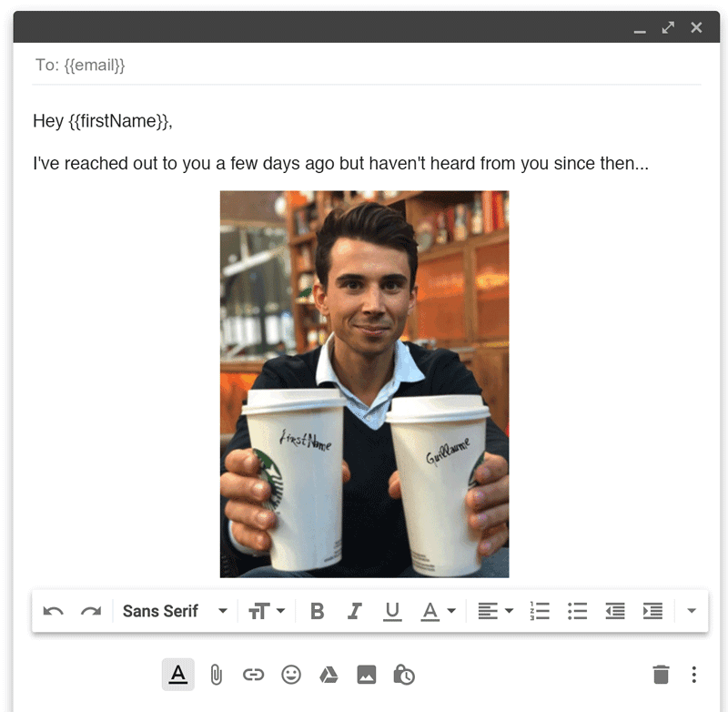 email personalization with images in email