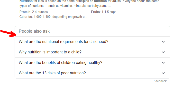 youth nutrition specialist google search for questions
