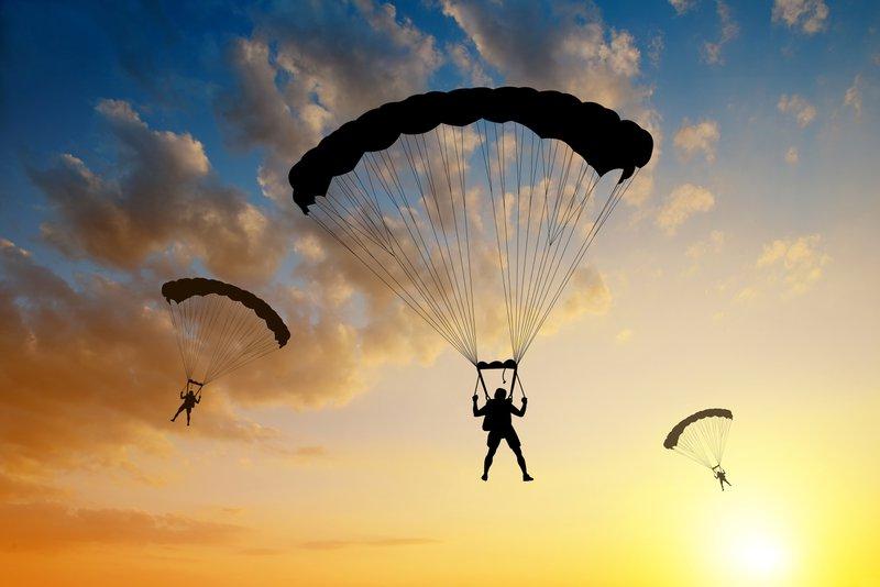Parachutes open