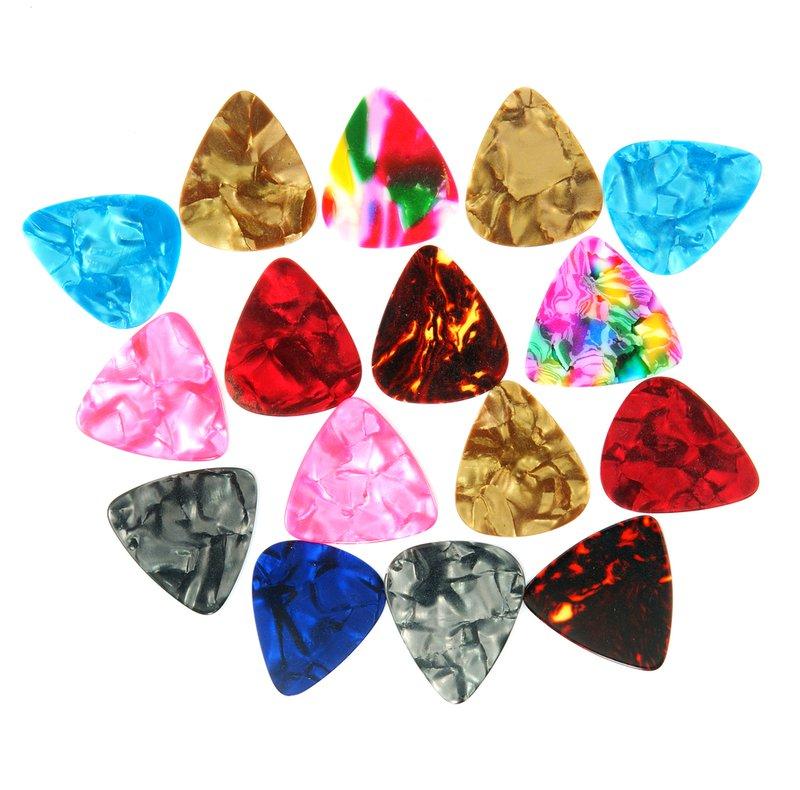 Colourful guitar plectrums