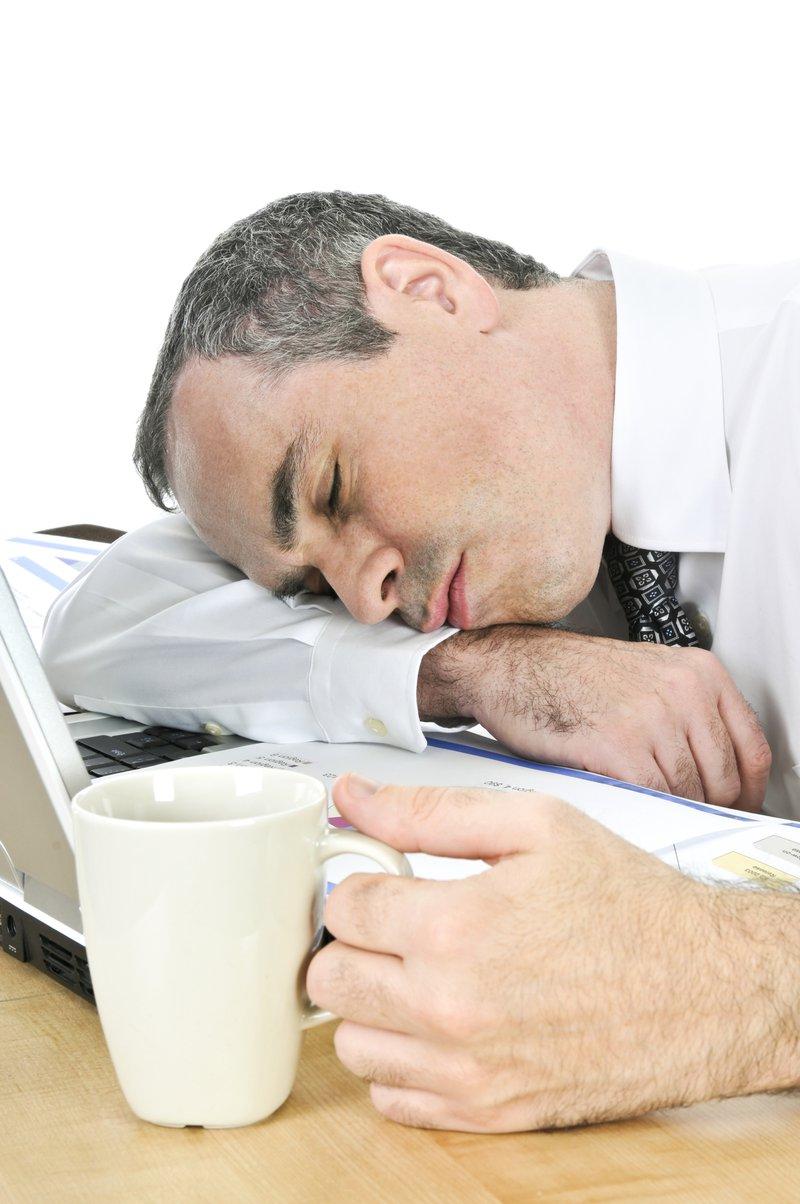 Tired Man Not Setting Goals