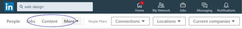 Use the LinkedIn search bar for LinkedIn Lead Generation