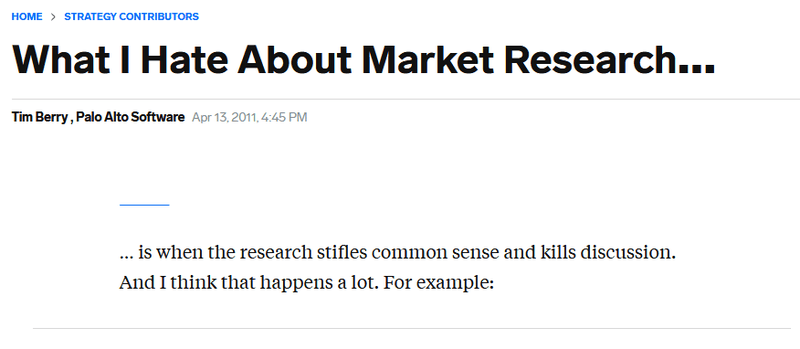 Business Insider: What I Hate About Market Research…