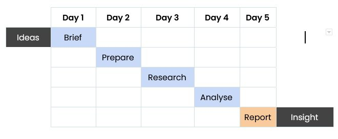 How to do rapid UX research: the 5-day steps