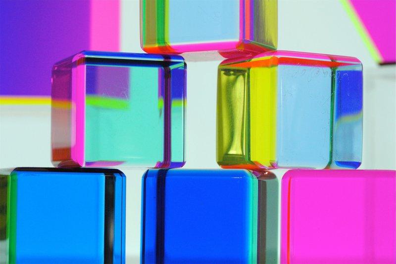 Brightly coloured blocks
