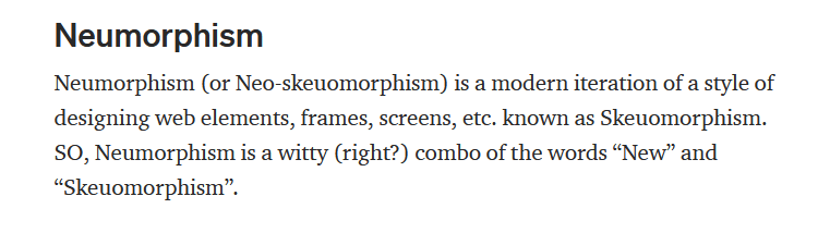 Neumorphism in UX