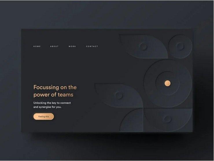 Dark Neumorphic Website Design by Samson Vowles