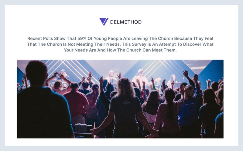what our young people think about church survey
