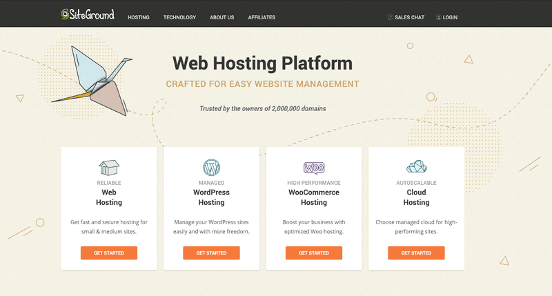 Siteground - our recommended website hosting
