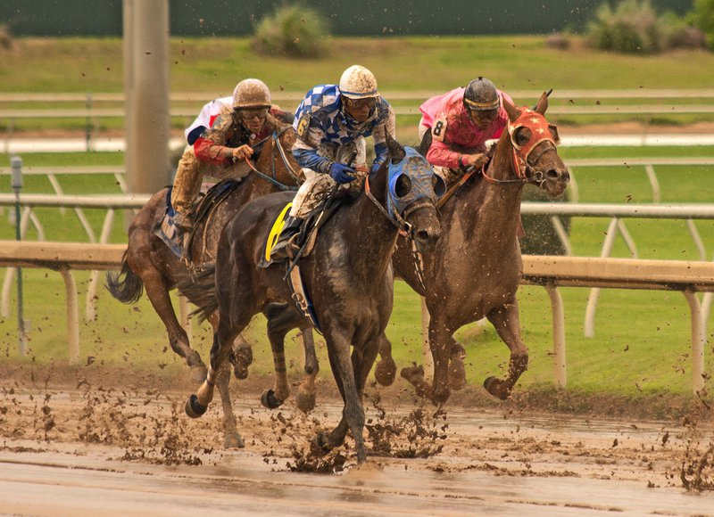 Belmont Park's closing weekend full of uncertainty as rainy forecast threatens to produce a sloppy weekend of racing.