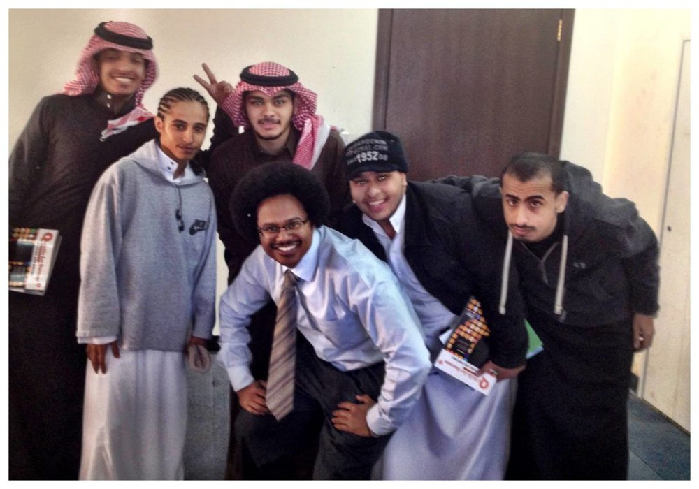 After class in Saudi, to relax and catch a quick pic with the guys.