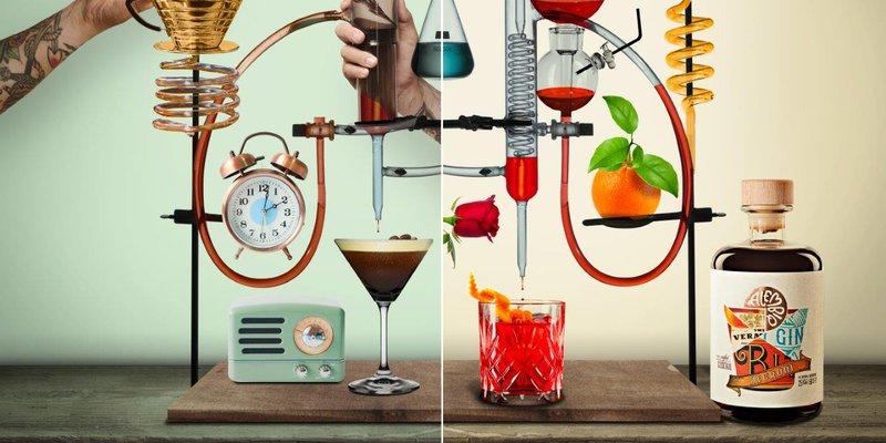 Positivity Branding: 'Alembiq is een nieuw drankmerk van cocktail klassiekers die in een ambachtelijke stijl worden geproduceerd.'