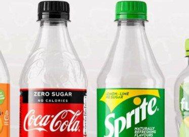 Coca-Cola stapt voor haar assortiment over naar 100% gerecycled plastic.