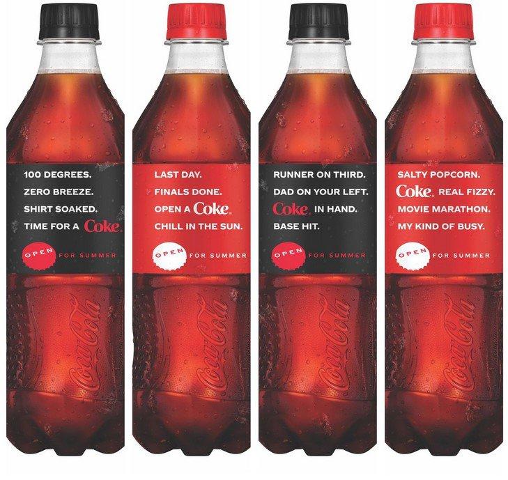Coca-Cola viert de zomer met gedichtjes op de flessen.