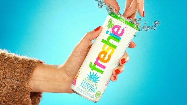 'Het ontwerp op het Freshie-drankblikje brengt de zomer tot uitdrukking.'
