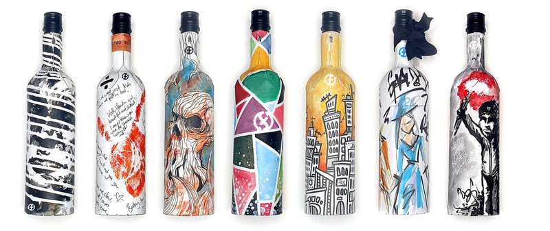 Papieren fles