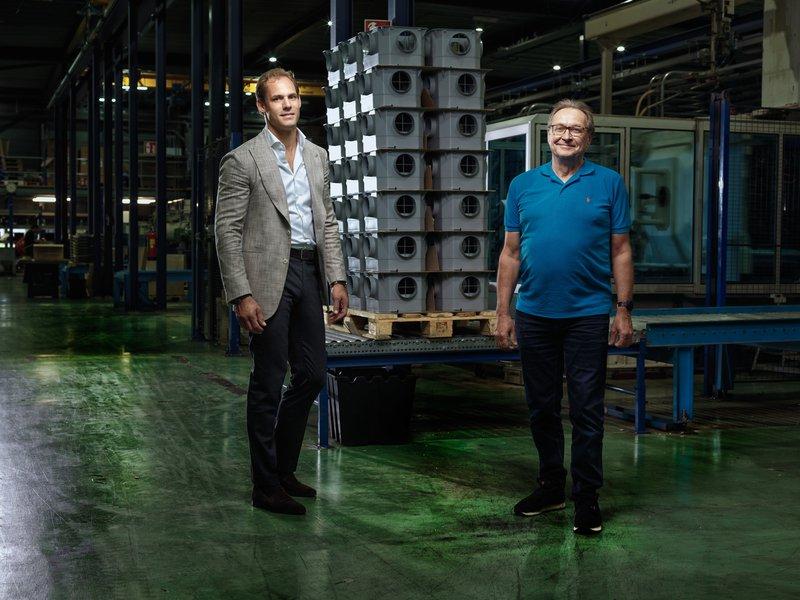 HPI Group: links Paul Harkema, rechts: Wim Crouwel