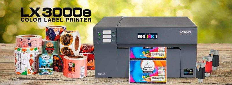 De nieuwe LX3000e-kleurenprinter wordt tijdens Empack 2021 geïntroduceerd.