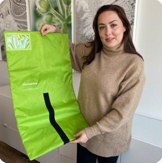 Noorse startup lanceert herbruikbare Packoorang ecommerce-verpakking.