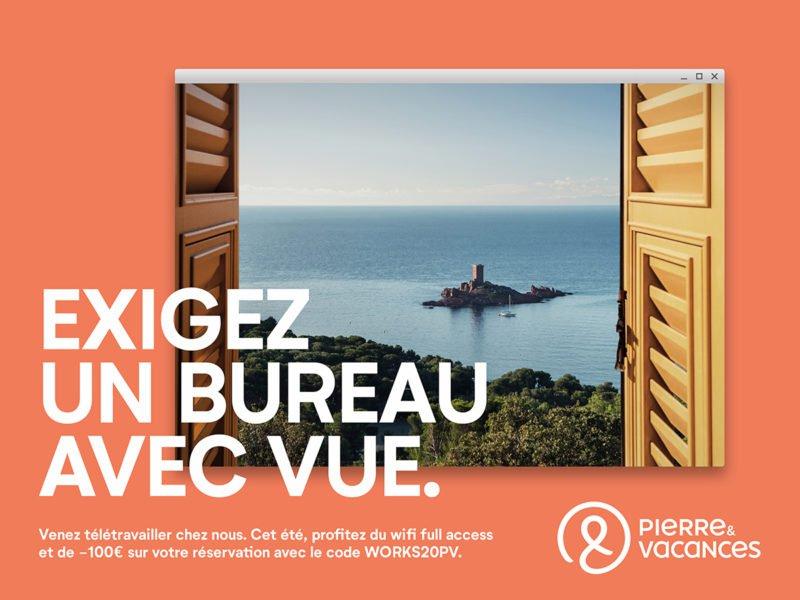 La campagne publicitaire de Pierre & Vacances pour le télétravail à l'hôtel