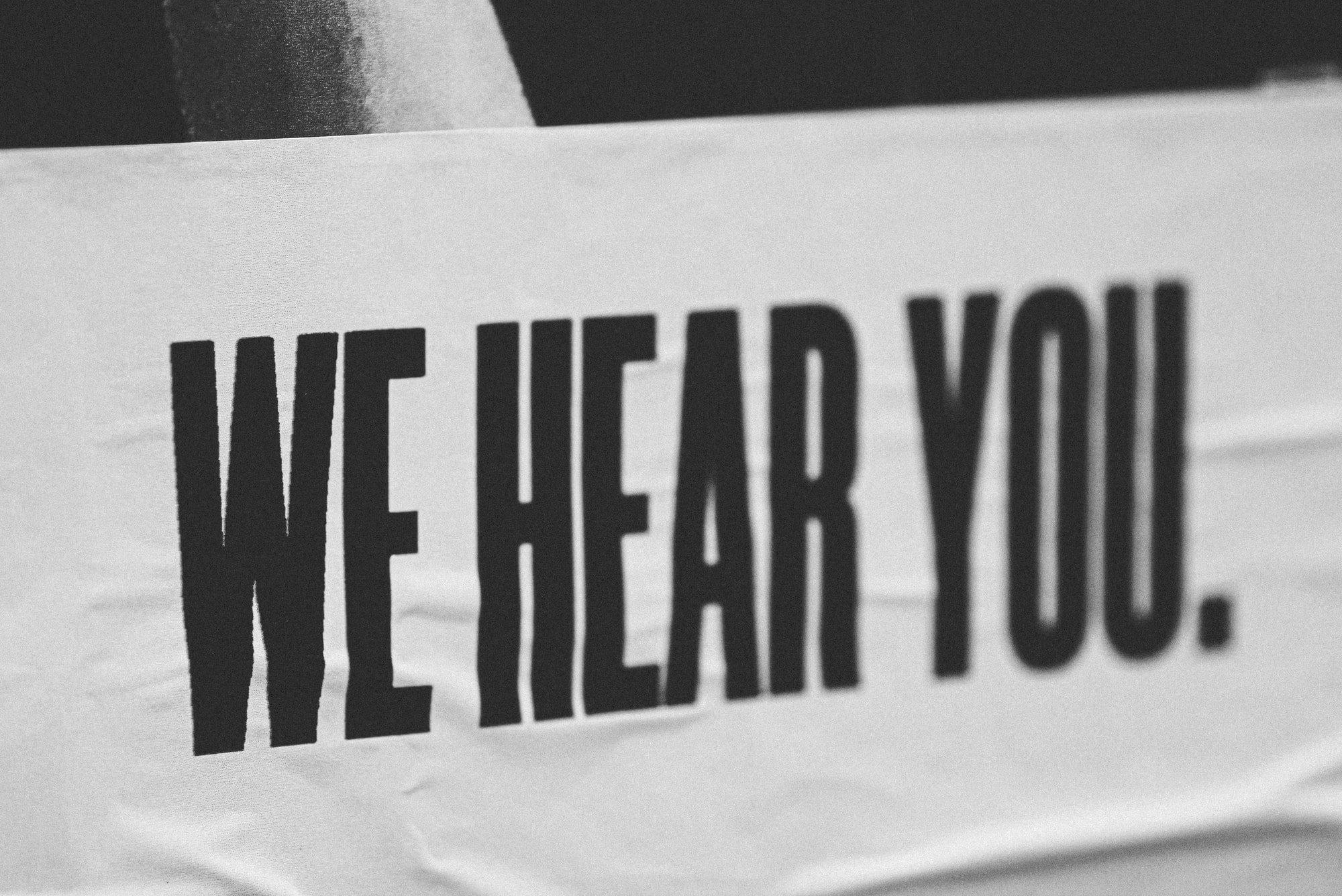 Digital Marketing Challenges - We Hear You Banner