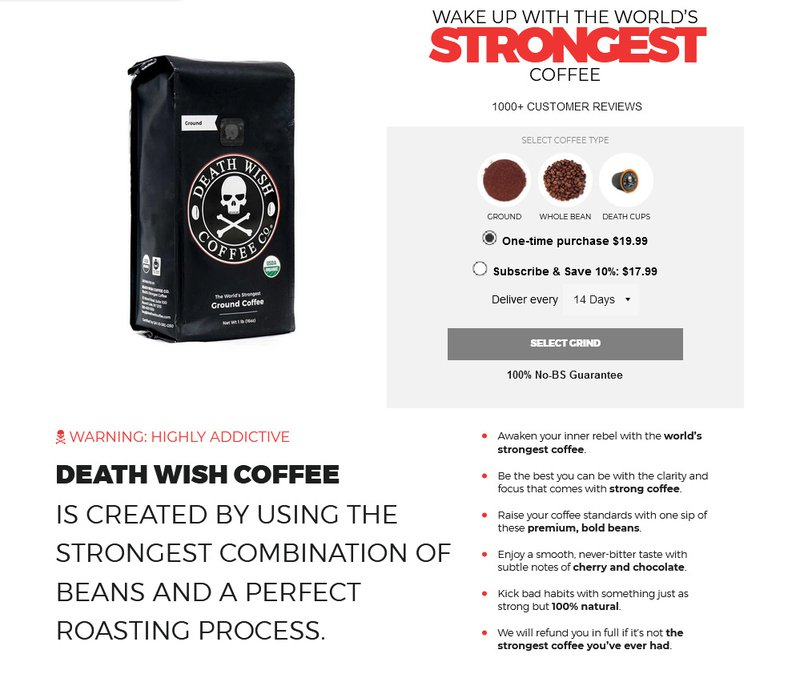 USP: Death Wish Coffee
